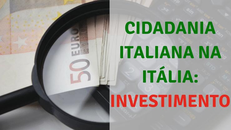 CUSTOS DA CIDADANIA ITALIANA VIA ADMISTRATIVA NA ITÁLIA 2018