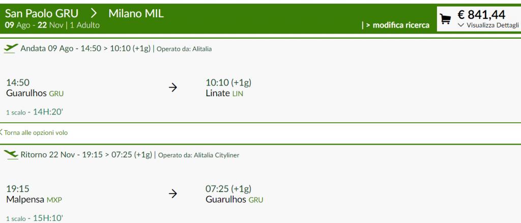 preço da Passagem aérea para a Itália